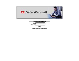 webmail.tedata.net.jo screenshot