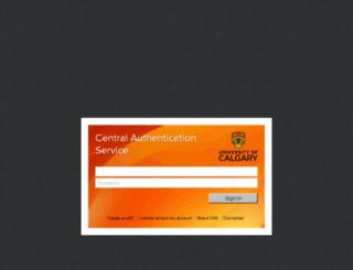 webmail.ucalgary.ca screenshot