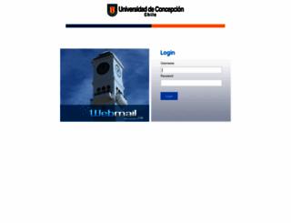 webmail.udec.cl screenshot