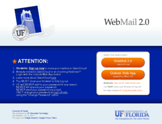 webmail.ufl.edu screenshot