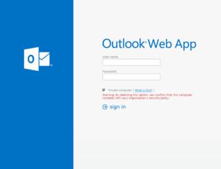 webmail.uhn.ca screenshot