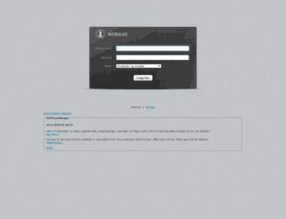 webmail.uib.no screenshot