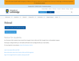 webmail.uleth.ca screenshot