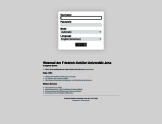 webmail.uni-jena.de screenshot