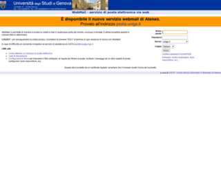 webmail.unige.it screenshot
