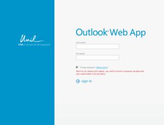 webmail.unil.ch screenshot