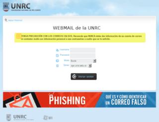 webmail.unrc.edu.ar screenshot