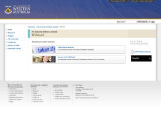 webmail.uwa.edu.au screenshot