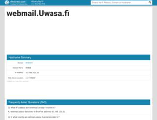 webmail.uwasa.fi.ipaddress.com screenshot
