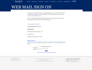 webmail.villanova.edu screenshot