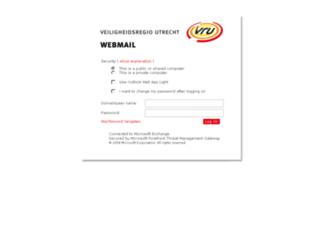 webmail.vru.nl screenshot