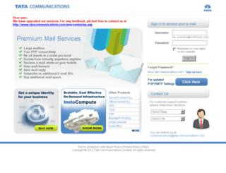 webmail.vsnl.in screenshot