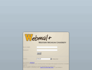 webmail.wmich.edu screenshot