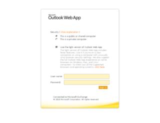 webmail.worc.ac.uk screenshot