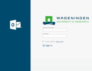 webmail.wur.nl screenshot