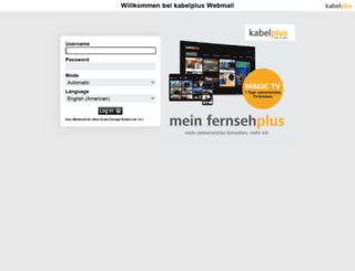 webmail07.kabelplus.at screenshot