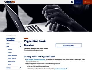 webmail1.pepperdine.edu screenshot