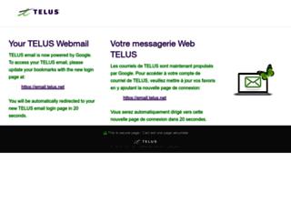 webmail2.telus.net screenshot