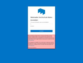 webmailer.hs-mainz.de screenshot