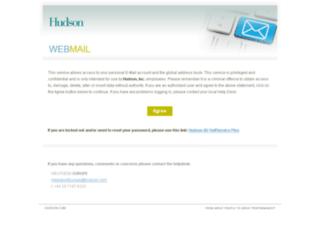 webmaileu.hudson.com screenshot