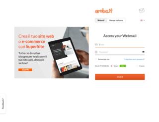 webmaillight.aruba.it screenshot
