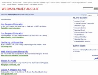 webmailvigilfuoco.it screenshot