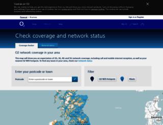 webmap.o2.co.uk screenshot