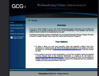webmarketingclaims.com screenshot