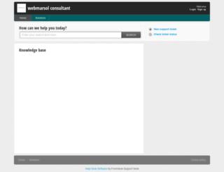 webmarsol.freshdesk.com screenshot
