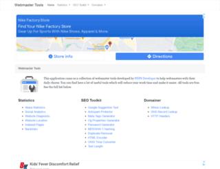webmaster-tools.php5developer.com screenshot