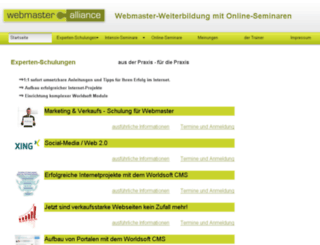 webmaster-webinare.de screenshot