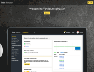 webmaster.yandex.com.tr screenshot