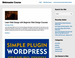 webmastercourse.com screenshot