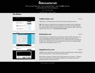 webmasterish.com screenshot