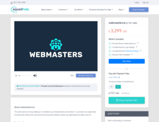 webmasters.io screenshot