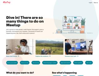 webmasters.meetup.com screenshot