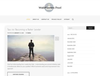 webmasterspool.com screenshot