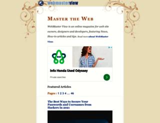 webmasterview.com screenshot