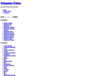 webmasterwidget.com screenshot
