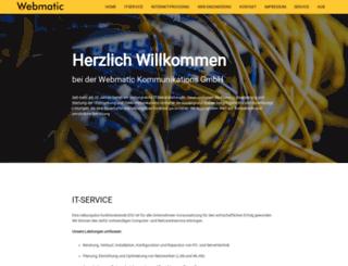 webmatic.de screenshot