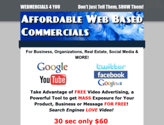 webmercials4you.weebly.com screenshot