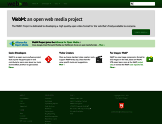 webmproject.org screenshot