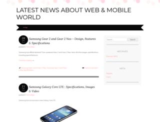 webnmobileworld.wordpress.com screenshot