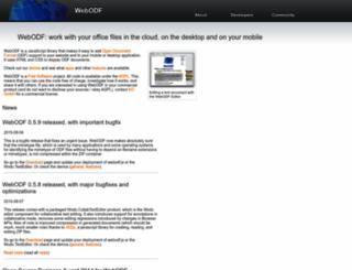 webodf.org screenshot