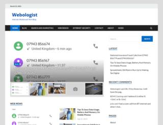 webologist.co.uk screenshot
