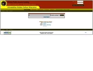 webopac.uksw.edu screenshot