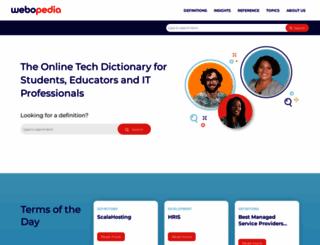 webopedia.com screenshot