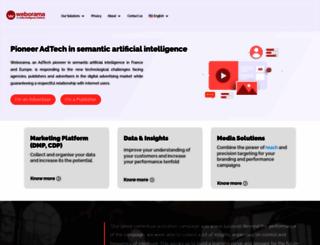 weborama.fr screenshot