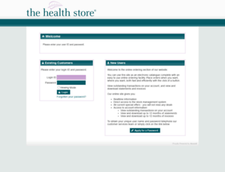weborders.thehealthstore.co.uk screenshot