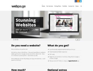 webpa.ge screenshot
